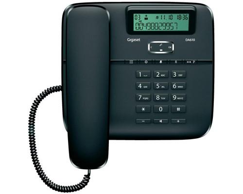 Телефон проводной Gigaset DA610 черный - (303747К)