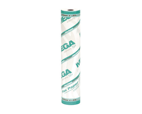 Ролик для факсов из термобумаги ProMega Fax 210 мм диаметр 37-39 мм намотка 22 м втулка 12 мм - (57886К)