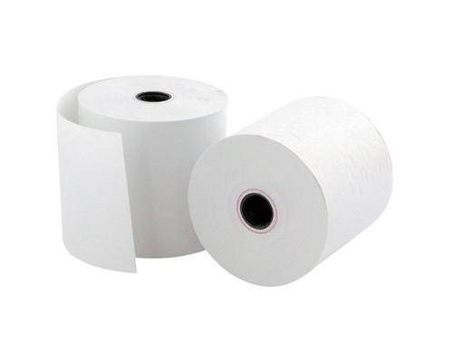 Чековая лента из офсетной бумаги ProMega 57 мм диаметр 50 мм намотка 28 м втулка 12 мм 16 штук в упаковке - (487549К)