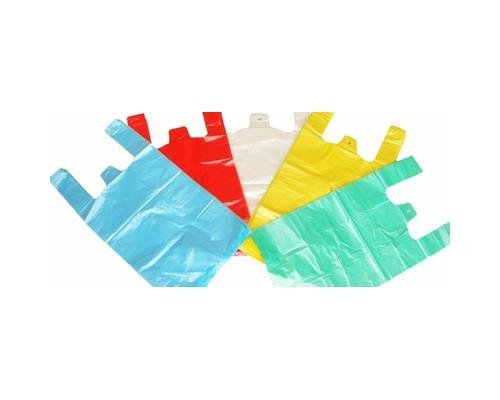 Пакет-майка ПНД цветной 10 мкм 25х12х45 см 100 штук в упаковке - (11732К)