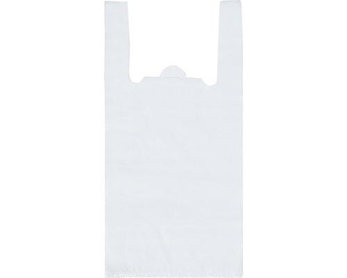 Пакет-майка Знак Качества ПНД белый 15 мкм 28х13x57 см 100 штук в упаковке - (414566К)