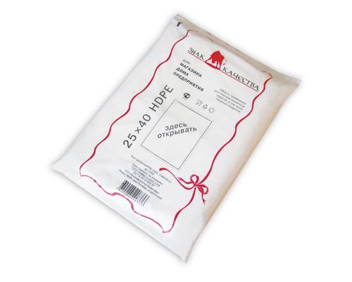 Пакет фасовочный Знак Качества ПНД 25х40 см 15 мкм 250 штук в упаковке - (51958К)