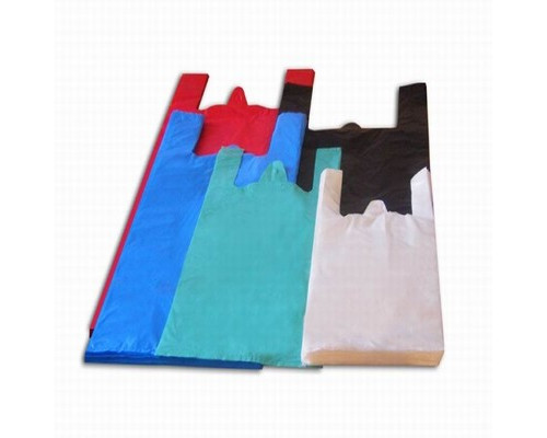 Пакет-майка Знак Качества ПНД цветной 15 мкм 38х20x68 см 100 штук в упаковке - (551690К)