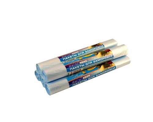 Пакет для заморозки Знак Качества Био 3 л ПНД 25х32 см 18 мкм 25 штук в рулоне - (421394К)