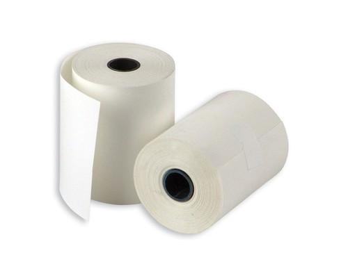 Чековая лента из термобумаги ProMega 57 мм диаметр 38-40 мм намотка 25 м втулка 12 мм 21 штука в упаковке - (487530К)