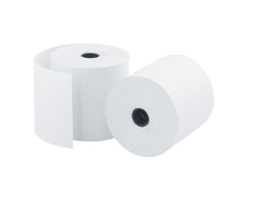 Чековая лента из офсетной бумаги ProMega 57 мм диаметр 60 мм намотка 30 м втулка 12 мм 15 штук в упаковке - (487550К)