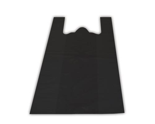 Пакет-майка Знак Качества ПНД черный 15 мкм 38х20x68 см 100 штук в упаковке - (551692К)