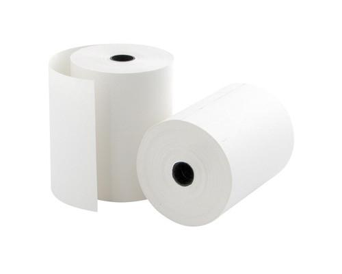 Чековая лента из офсетной бумаги ProMega 76 мм диаметр 60 мм намотка 28-30 м втулка 12 мм 10 штук в упаковке - (44922К)