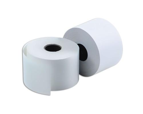 Чековая лента из термобумаги ProMega 80 мм диаметр 130 мм намотка 220.9 м втулка 26 мм 12 штук в упаковке - (120231К)