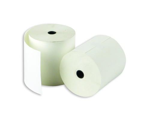 Чековая лента из термобумаги ProMega 80 мм диаметр 71-73 мм намотка 80 м втулка 12 мм 8 штук в упаковке - (73499К)