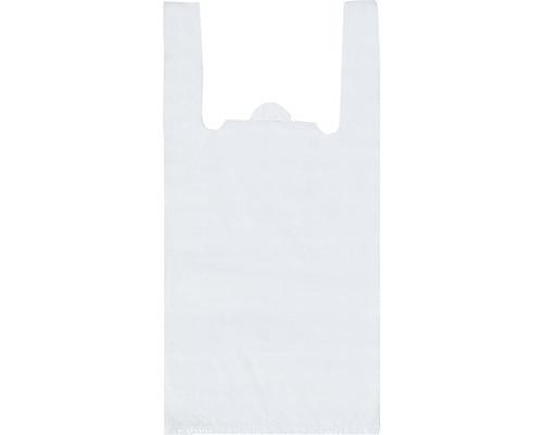 Пакет-майка Знак Качества ПНД белый 12 мкм 25х12x45 см 100 штук в упаковке - (551688К)