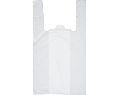 Пакет-майка Знак Качества ПНД белый 15 мкм 30х18х55 см 100 штук в упаковке - (551687К)