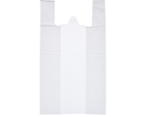 Пакет-майка ПНД белый 15 мкм 30х18х55 см 100 штук в упаковке - (57602К)