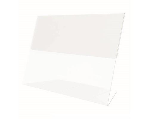 Держатель информации горизонтальный L-образный пластиковый 80x60 мм 20 штук в упаковке - (645211К)