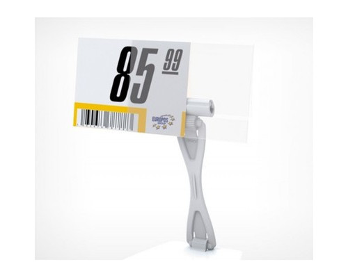 Карман для ценника ПЭТ 40x70 мм 20 штук в упаковке - (472275К)