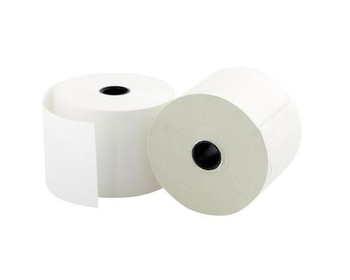 Чековая лента из термобумаги 57 мм диаметр 43-45 мм намотка 30 м втулка 12 мм 12 штук в упаковке - (628640К)