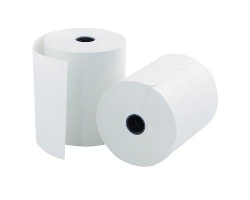 Чековая лента из офсетной бумаги ProMega 69 мм диаметр 60 мм намотка 18-19 м втулка 12 мм 10 штук упаковке - (487555К)