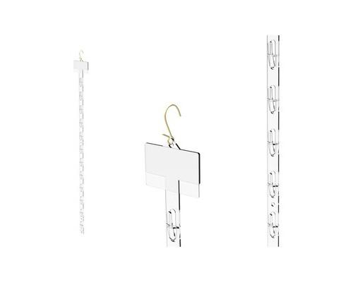 Страйп-лента подвесная пластиковая 12 крючков + S-крючок для подвешивания - (619395К)