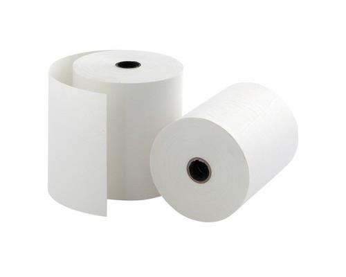 Чековая лента из офсетной бумаги ProMega 69 мм диаметр 50 мм намотка 16-17 м втулка 12 мм 12 штук в упаковке - (487552К)