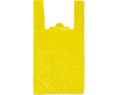Пакет-майка Знак Качества ПНД желтый 18 мкм 30х14x57 см 100 штук в упаковке - (415178К)