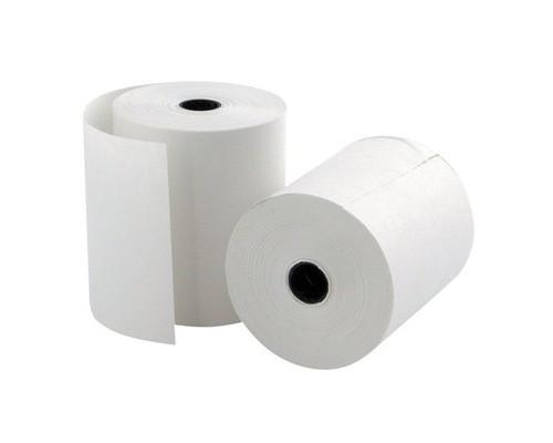 Чековая лента из офсетной бумаги ProMega 69 мм диаметр 52 мм намотка 20-22 м втулка 12 мм 12 штук в упаковке - (487553К)
