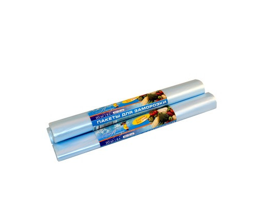 Пакет для заморозки Знак Качества Био 6 л ПНД 40х32 см 18 мкм 20 штук в рулоне - (421393К)