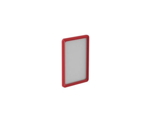 Рамка для ценникодержателей пластиковая А5 красная 10 штук в упаковке - (436415К)