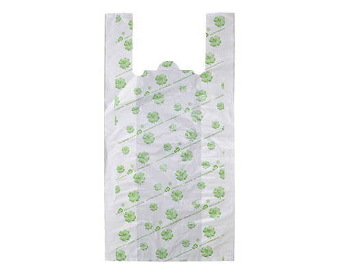 Пакет-майка Знак Качества Био ПНД с рисунком 23 мкм 32х14x65 см 50 штук в упаковке - (301961К)
