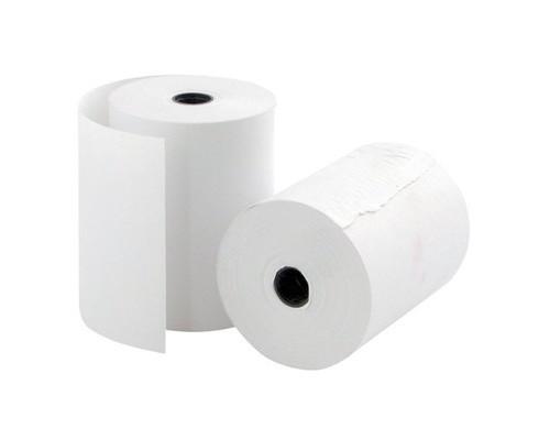 Чековая лента из офсетной бумаги ProMega 76 мм диаметр 50 мм намотка 20-21 м втулка 12 мм 12 штук в упаковке - (487556К)