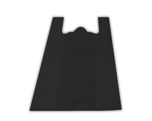 Пакет-майка ПНД черный 15 мкм 38х20х68 см 100 штук в упаковке - (25341К)