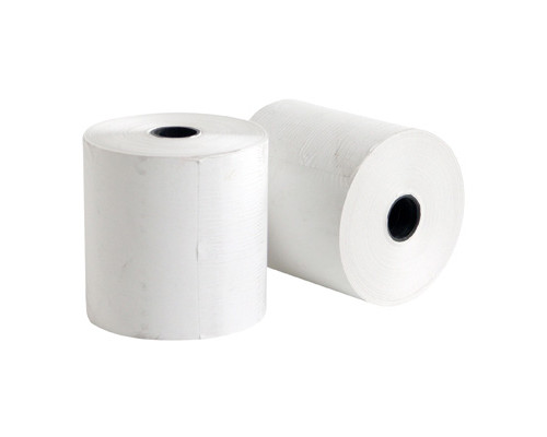 Чековая лента из термобумаги ProMega 80 мм диаметр 200 мм намотка 530 м втулка 26 мм 8 штук в упаковке - (42956К)