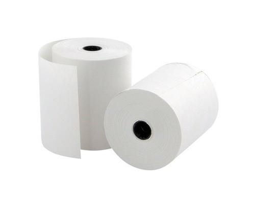 Чековая лента из офсетной бумаги ProMega 69 мм диаметр 50 мм намотка 20 м втулка 12 мм 12 штук в упаковке - (487551К)