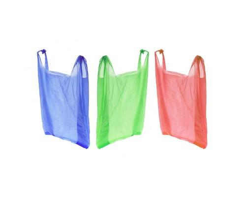 Пакет-майка ПНД цветной 15 мкм 30х18х55 см 100 штук в упаковке - (17930К)